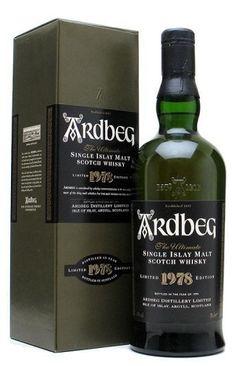 Ardbeg limited 1978 edition whisky
