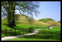 Old Norse burial mounds in Gamla Uppsala, Sweden.
