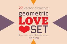 Geometric Love Set by Kinnetik on Creative Market