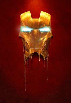 Melting face Iron Man