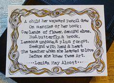 Lousia May Alcott  Twas Art Inspirational by ThreeSummerDaysShop, $55.00