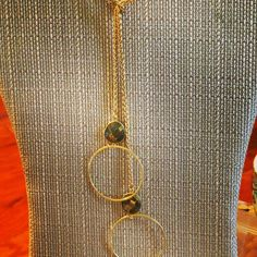Glamorous Necklace - Any gemstone available. This laraiette necklace can be worn multiple ways and perfect for any outfit - $88.00