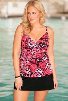b. belle Butterfly Tab Front Skirtini Women's Swimwear Beach Belle. $46.76