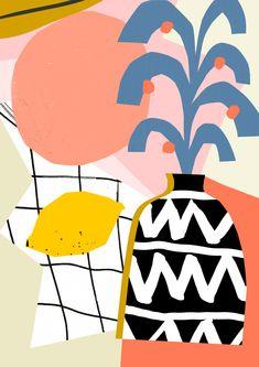 'Lemon, Plant, Vase'