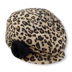 leopard newsgirl cap (Children's Place 4-14)