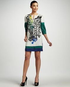 2012 Rachel Roy Placement Print Dress