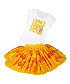 Yellow Belle Disney Tee & Tutu by  #zulily #zulilyfinds