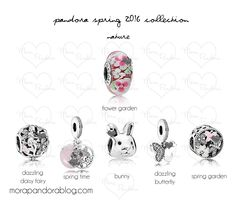 Pandora Spring 2016 Preview - Nature.         This is the range I want to get to create a beautiful bracelet.  Such a shame Australia doesn't have the glass floral one available here.