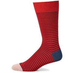 Paul Smith Two-Stripe Dress Socks (70 BRL) ❤ liked on Polyvore featuring men's fashion, men's clothing, men's socks, mens red socks, mens striped socks, mens striped dress socks, mens socks and mens blue dress socks