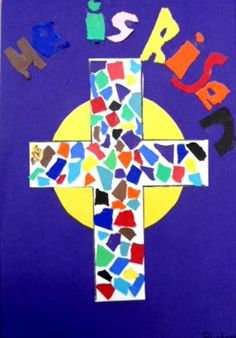 Mosaic cross for easter