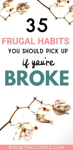 Why Am I Poor? Top 35 Tips To Stop Being Broke and Start Saving Money Tired of being broke? Check out our best frugal tips and tricks people who are never broke use daily! These money saving tips are super… Continue Reading → Living On A Budget, Frugal Living Tips, Frugal Tips, Simple Living, Family Budget, Best Money Saving Tips, Money Tips, Saving Money, Money Hacks