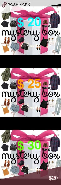 🚨🚨🚨🚨Trend setting mystery 📦 🚨🚨🚨🚨 Looking for something but don't know what? Try out my new mystery boxes! These boxes are filled with everyday goodies and items like Tops, Skirts, Dresses, Shoes plus Accessories!!!  All you have to do: 🔥🔥🔥🔥🔥🔥 1. Comment your sizes 2. Pick your Mystery Box 3. Purchase and wait for your Trend Box to come in!  Get your TRENDY! 💖 Everything Other