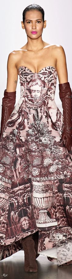 Dennis Basso, Strapless Dress Formal, Formal Dresses, Glamour, Fashion Prints, Autumn Winter Fashion, Fashion Show, Women Wear, Runway