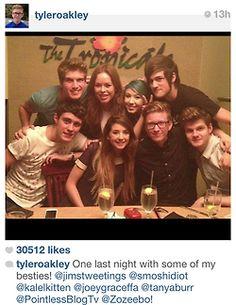 Joey. Tan. Kalel. Anthony. Alfie. Zoe. Tyler. Jim.