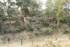 Street Slums Off Kanpur City On The Railway Tracks