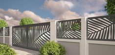 32 Stunning Modern Fence Design Ideas For Your Garden Decor - Fencing contractors would dare say that they are vital to your home construction needs. This is due to the fact that even before your guests and visit. Gate Wall Design, House Fence Design, Modern Fence Design, Stone Wall Design, Main Gate Design, Brick Wall Decor, Farmhouse Wall Decor, Tor Design, Leaf Design