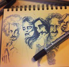 Eagles. En proceso #sketch #grays #ilustration