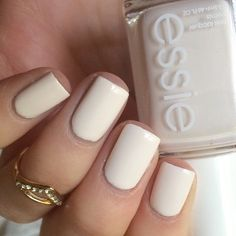 "Another look at #Essie {Coconut Cove} - a ""sweet cream white"" from the summer 2016 'Viva Antigua!' Collection"