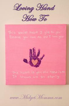Loving Hand craft- great gift idea
