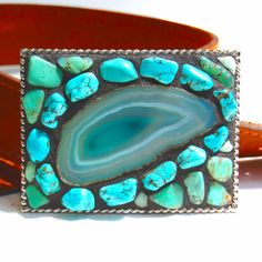 mosaic belt buckle..If I wore belts I would definitely wear this!