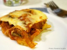 Potatoes with eggplant in a cheese jacket