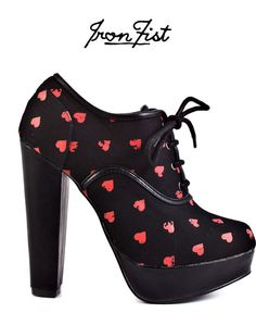 Iron Fist shoes! Heart print = super cute! I would so wear these with a skater dress and of course, awesome jewels!