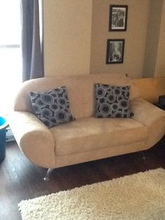 Cream Micro Suede Love Seat Couches Futons City Of Halifax Kijiji