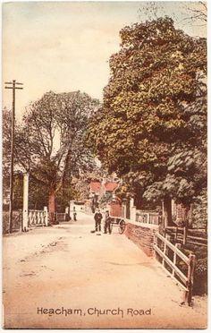 HEACHAM-Norfolk-Church-Road-inc-railway-crossing