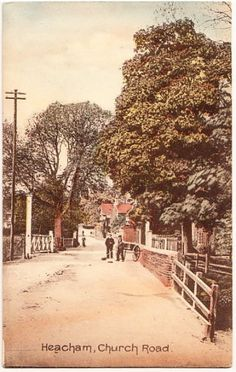 HEACHAM-Norfolk-Church-Road-inc-railway-crossing