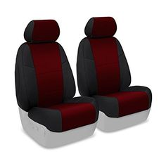 Coverking Custom Fit Front 5050 Bucket Seat Cover for Select Nissan Juke Models  Neosupreme Wine with Black Sides >>> AMAZON Great Sale