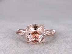 2.4ct morganite ring in bbbgem,see morganite engagement rings rose gold in heart,round,oval,cushion cut,princess,emerald cut,pear shape.