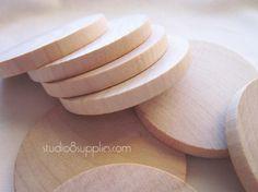 20 Wood Circle Discs by studio8supplies, $7.50