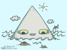 The Bermuda Triangle T-Shirt - http://teecraze.com/the-bermuda-triangle-t-shirt/ -  Designed by spookylili    #tshirt #tee #art #fashion #clothing #apparel