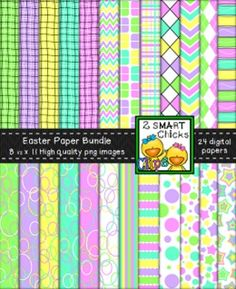 bundle! 24 colourful PNG file digital papers are included in this set! Once purchased, backgrounds can be used for personal or commercial purposes. Kindly remember to include a link back to our TPT store: http://www.teacherspayteachers.com/Store/2-Smart-Chicks Happy creating!