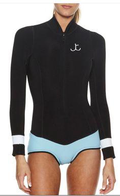 TALLOW BARRENJOEY SURF SUIT - BLACK JADE.