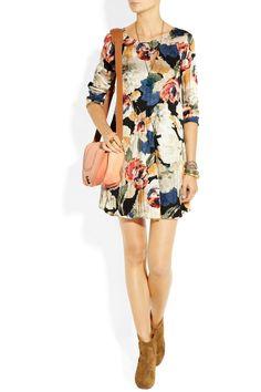Elizabeth and James|Rose Suvi printed silk-twill dress|NET-A-PORTER.COM