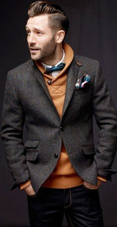 I really like the whole outfit, the color contrast, but I think I would lose the the tie.