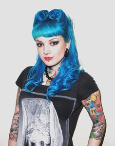 Not necessarily posting this for the composition... I just love the victory rolls in blue, with BANGS on top of that! So that means I can pull it off. :D