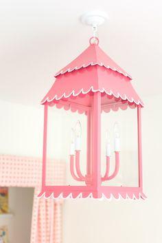 Anna Matthews Interiors used the Girly Lantern in a playroom. Cute! #straydogdesigns