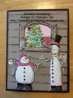 Christmas Window by stampingshelle - Cards and Paper Crafts at Splitcoaststampers