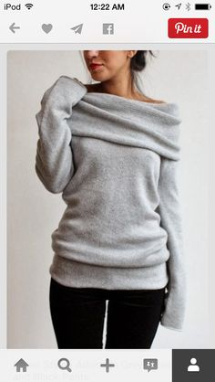 Looks like the worlds comfiest sweater!