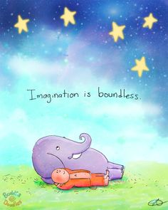 Today's Buddha Doodle: you can't put this in a box... Imagination is boundless.