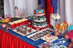 avengers Birthday Party Food Ideas | The Avengers / Birthday / Dessert Table: