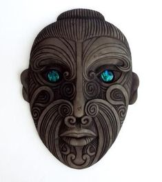 Maori Mask, New Zealand. See The Virtual Artist gallery: www.theartistobjective.com/gallery/index.html #maoritattoosface