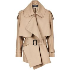 Burberry Runway Oversized Waterfall Trench Jacket | Harrods.com (€1.630) ❤ liked on Polyvore featuring outerwear, jackets, coats, oversized jacket, beige waterfall jacket, burberry, waterfall jacket and trench jackets