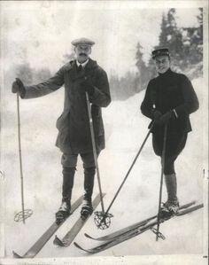 King Haakon VII. and Crown Prince Olav