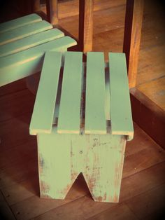 Banquito con madera Reciclada estilo Vintage                       Art PP