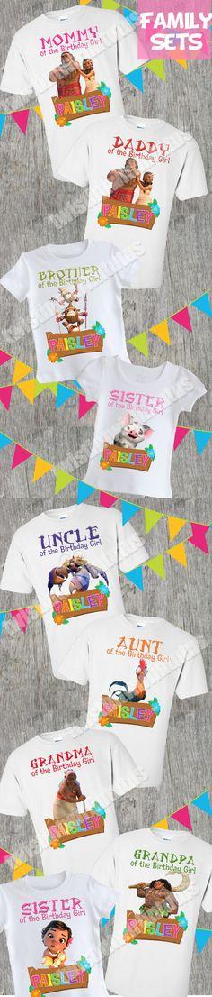 Moana Family Birthday Shirts   Moana Birthday Shirt   Moana Birthday Party Ideas   Moana Family Shirts   Birthday Ideas for Girls   Twistin Twirlin Tutus #moanabirthday