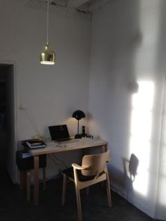 Alvar Aalto table and pendant (Artek) + Ilmarai Tapiovaara domus chair (Artek) + Verner Panton Flowerpot table lamp (&Tradition)