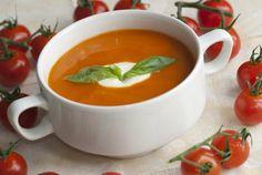 Soupmaker: Cream of Tomato & Basil Soup Recipe Soup Recipes, Vegan Recipes, Cooking Recipes, Cooking Ideas, Vegan Food, Food Ideas, Recipies, Cream Of Tomato, British Dishes
